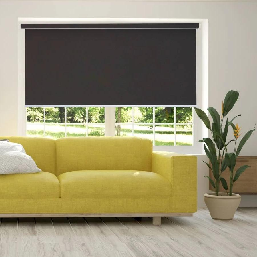 B-BW12 Brown Blackwell Vinyl Waterproof Blackout Roller Blinds