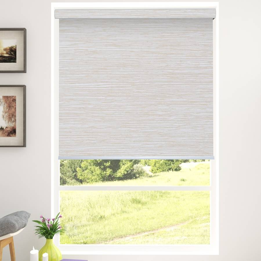 B-BB02 Beige Bixby Premium Blackout Roller Shades Blinds