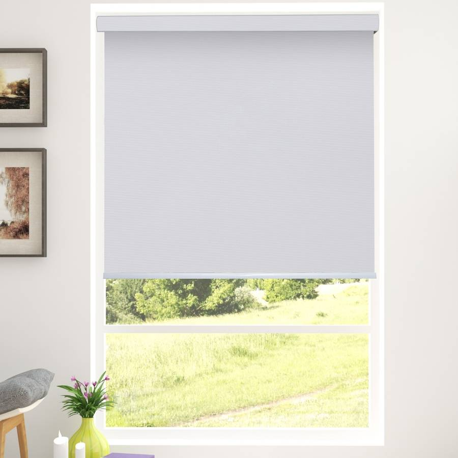 B-BW04 Cement Blackwell Vinyl Waterproof Blackout Roller Blinds
