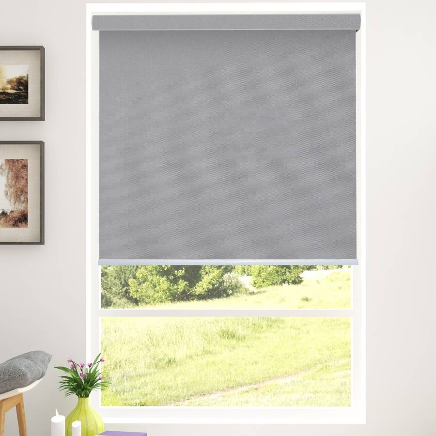 B-BJ06 Grey Bojan Blackout Roller Shades Blinds