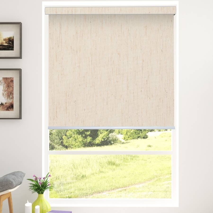 B-CC02 Beige Cico Designer Blackout Roller Shades Blinds