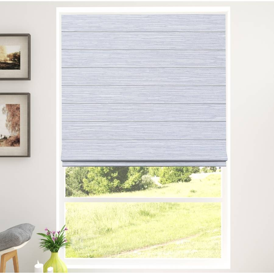 B-BB03 Grey Bixby Premium Blackout Roman Shades Blinds