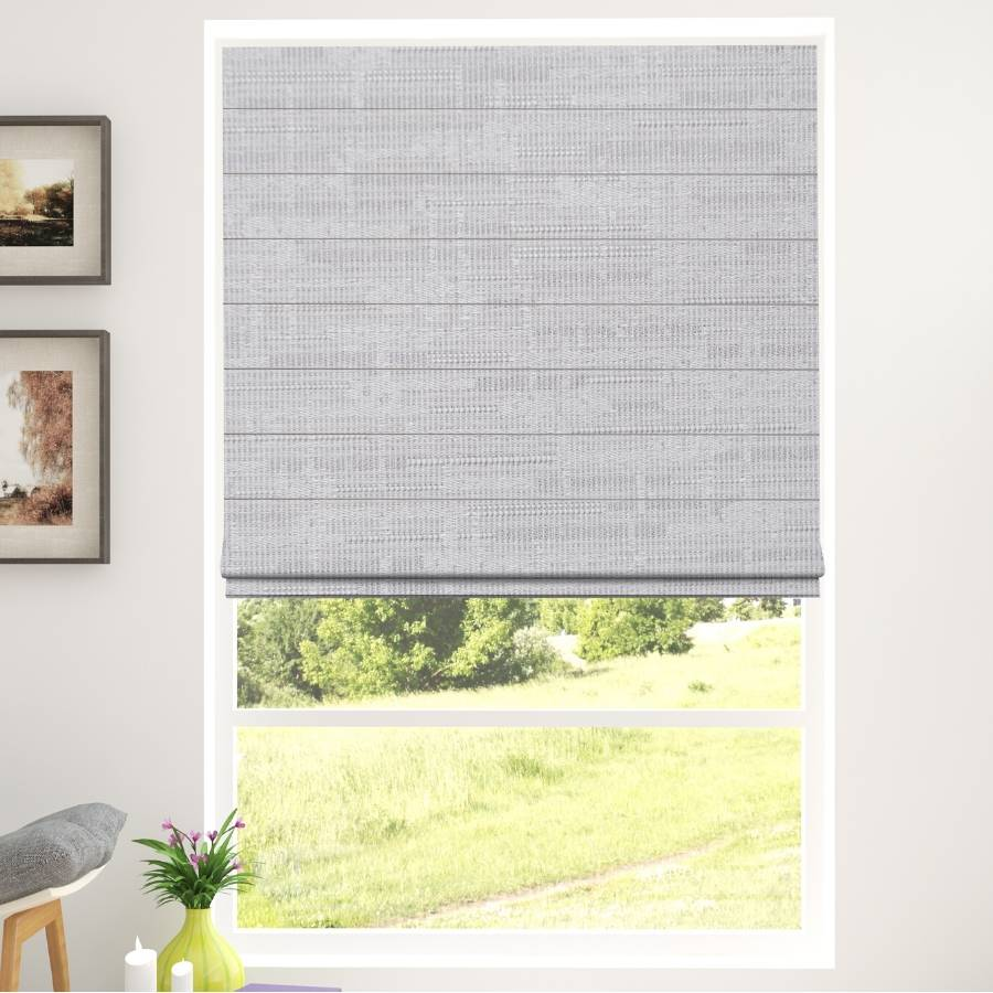 B-BN03 Grey Boone Blackout Roman Shades Blinds