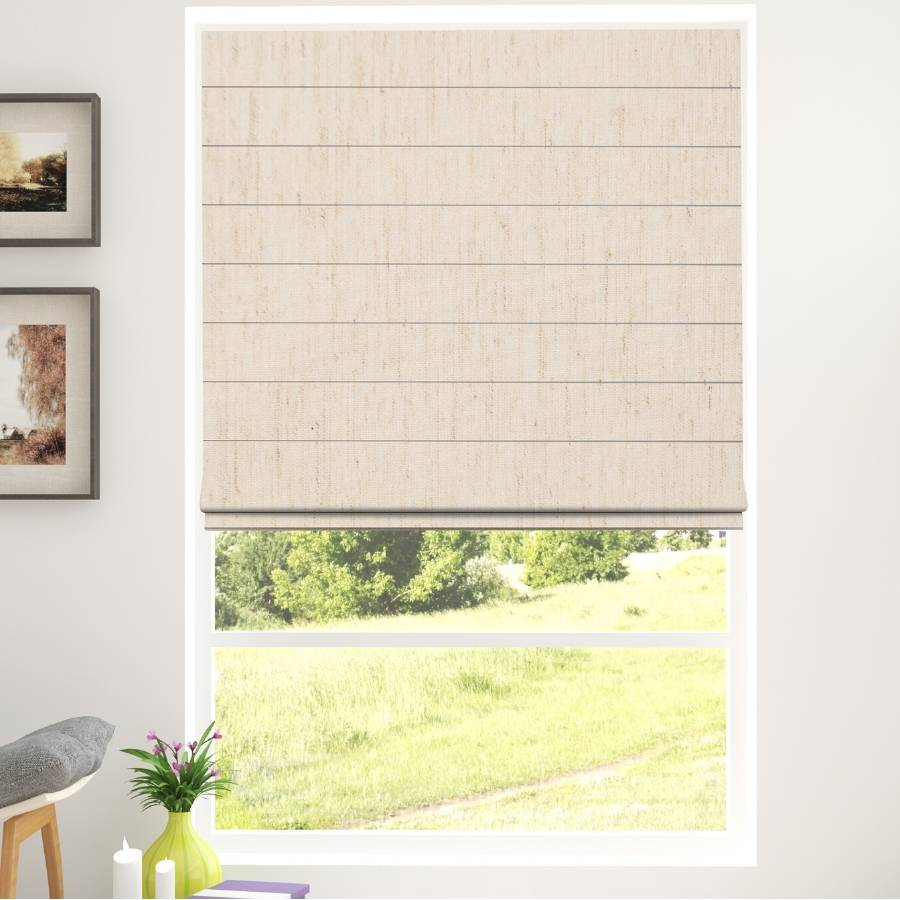 B-CC02 Beige Cico Designer Blackout Roman Shades Blinds