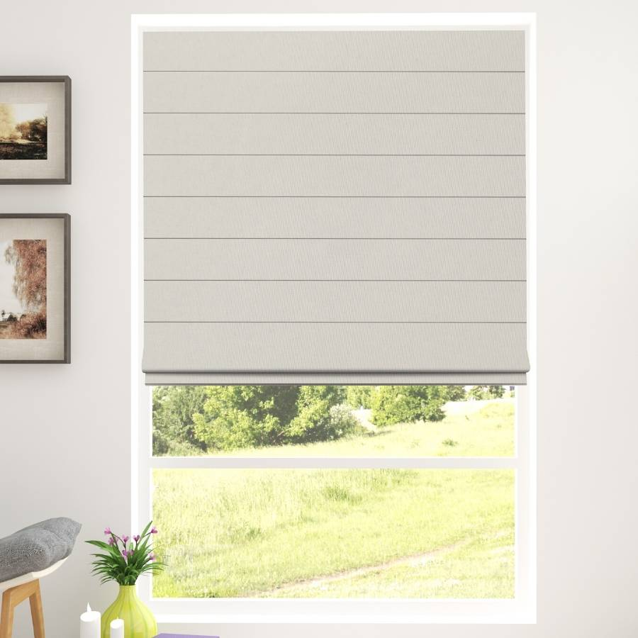 B-CB01 Cream Cuba Classic Fabric Roman Shades Blinds