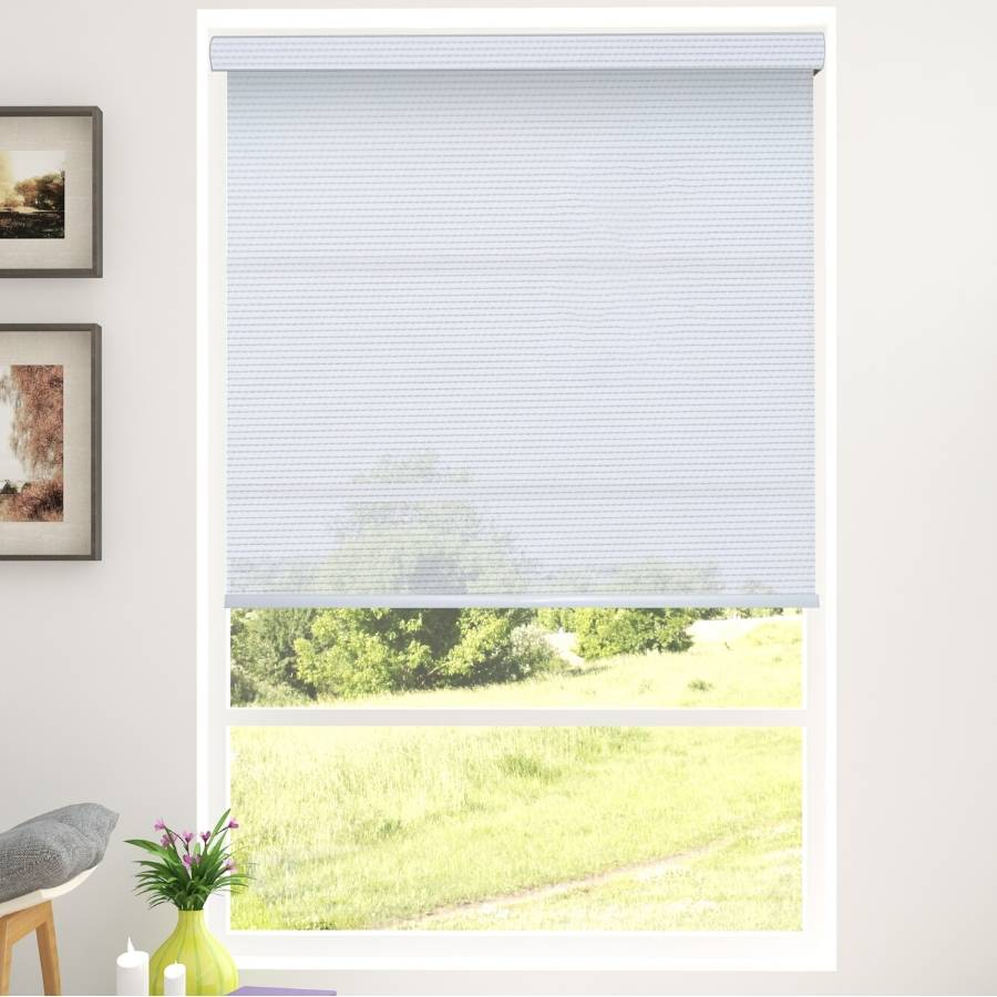 B-SG03 Grey Sega Light Filtering Roller Shades Blinds