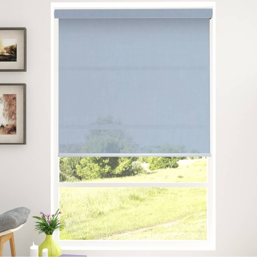 B-SN02 Blue Shino Light filtering Roller Shades Blinds