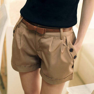 Casual Ladies Shorts Without Belt