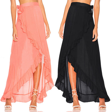 Long Maxi Boho Chiffon Skirt