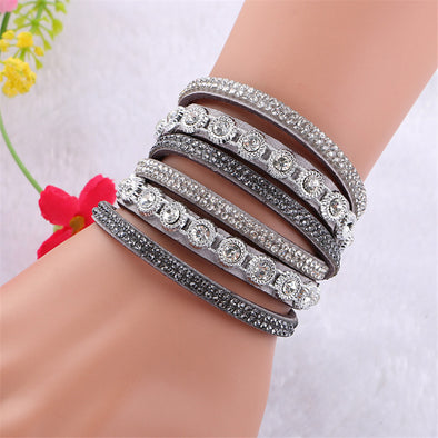 Multilayer Rhinestone Crystal Bracelet