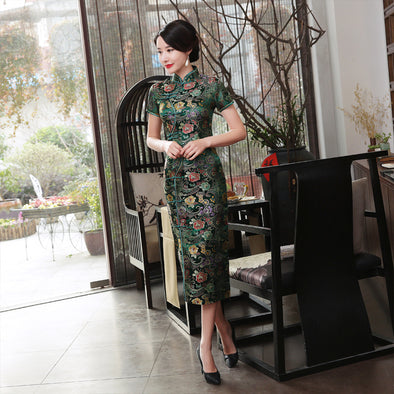 Elegant Cheongsam Novelty Long Dress