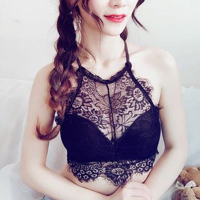 Sexy Lace Padded Halter Brassiere