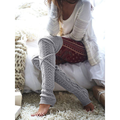 Women Knitted Woolen Stockings