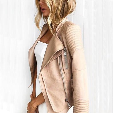 Suede Faux Leather Jacket