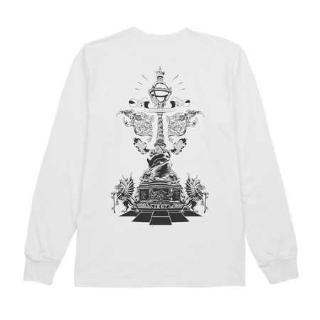 LLSB Artist Series Jeremy Jones Long-Sleeve White T-Shirt