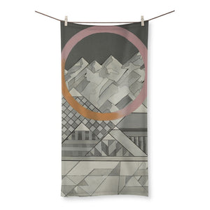 Geometry's Mountain Beach Towel