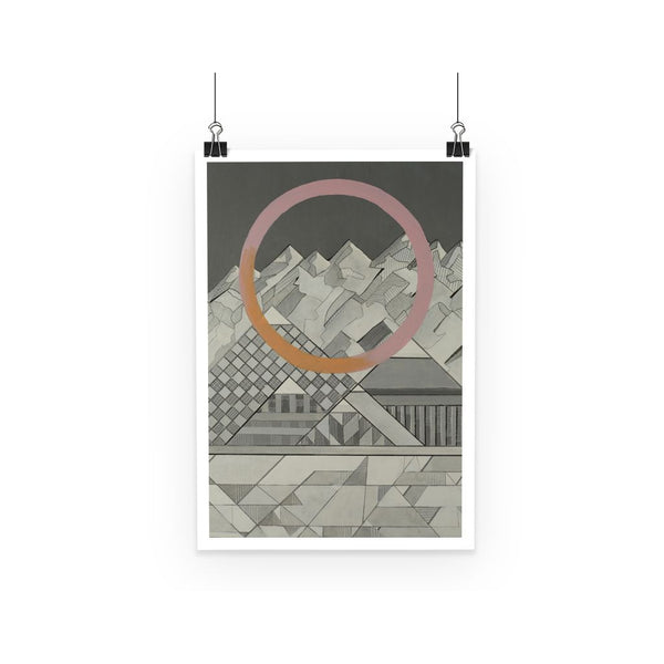 Geometry's Mountain Poster