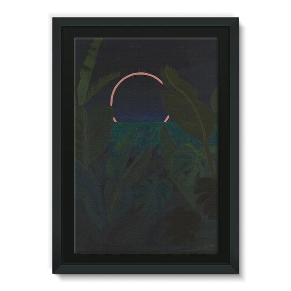 Jungle Eclipse Framed Canvas