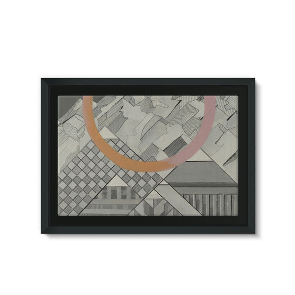 Geometry's Mountain Framed Canvas