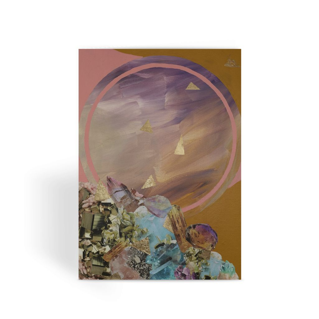 Mineral Moon Greeting Card