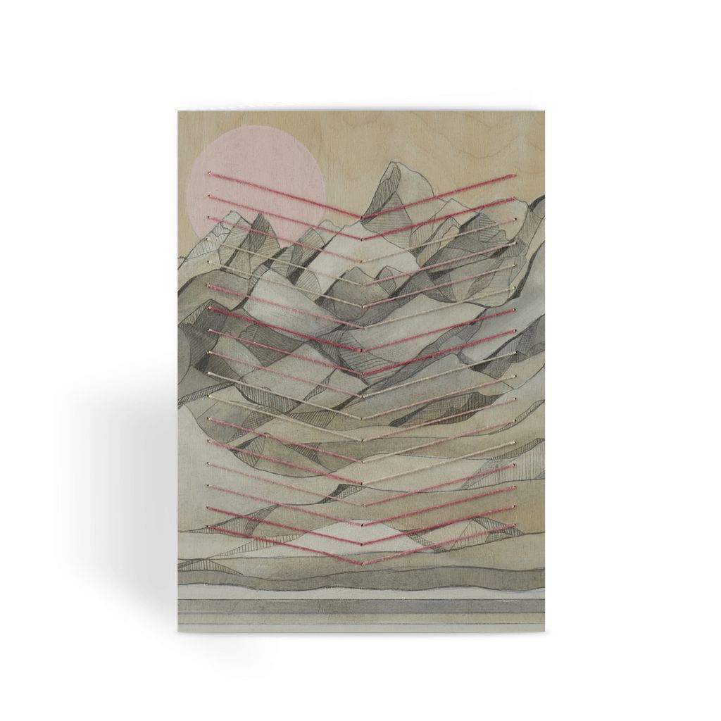 Chevron Mountain Greeting Card