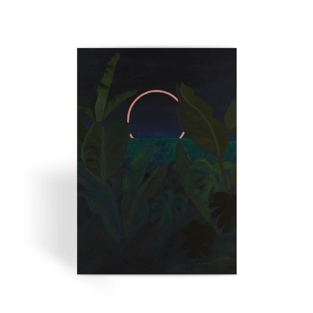 Jungle Eclipse Greeting Card
