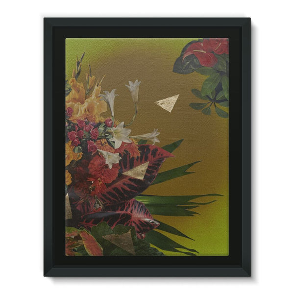 Jungle Gold Framed Canvas