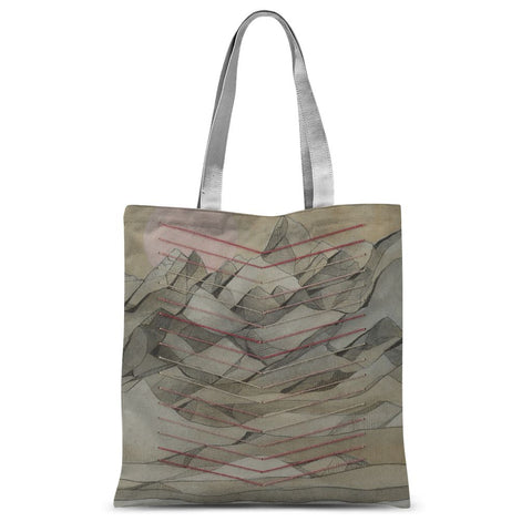 Chevron Mountain Sublimation Tote Bag
