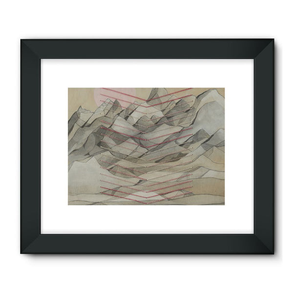 Chevron Mountain Framed Fine Art Print