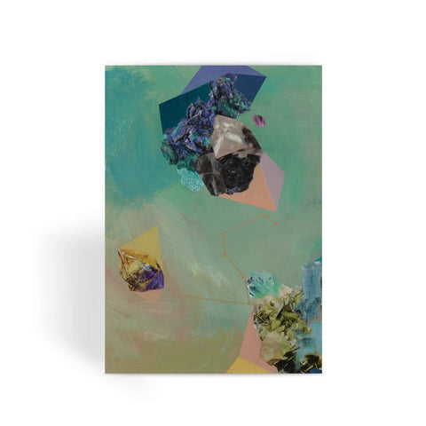 Mineral Leo Greeting Card