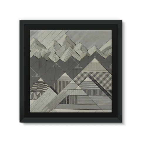 Geometry's Valley Framed Canvas