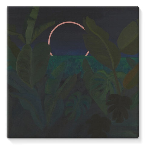 Jungle Eclipse Stretched Canvas