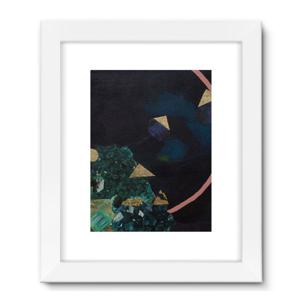 Indigo Found Framed Fine Art Print