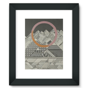 Geometry's Mountain Framed Fine Art Print