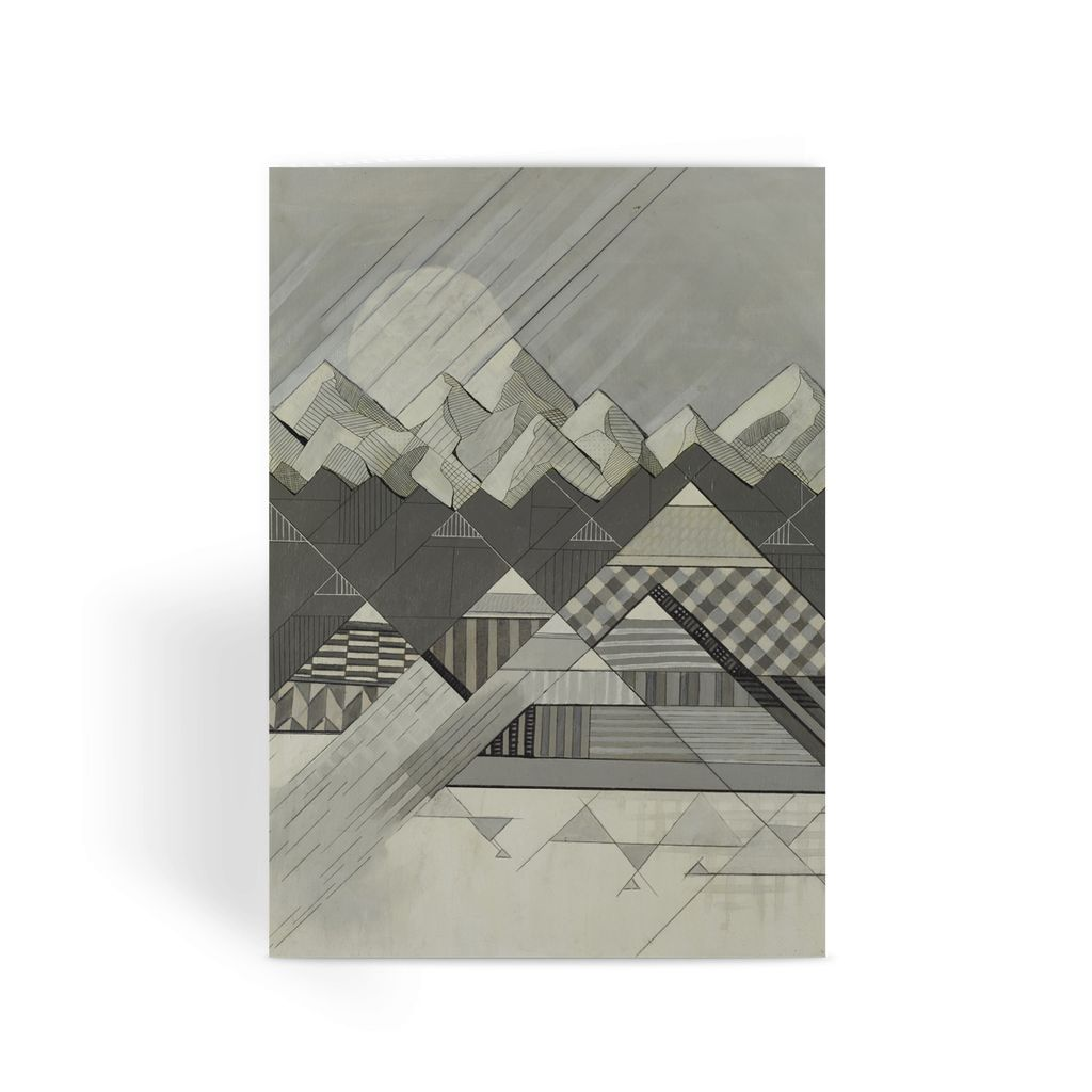 Geometry's Valley Greeting Card