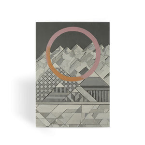Geometry's Mountain Greeting Card