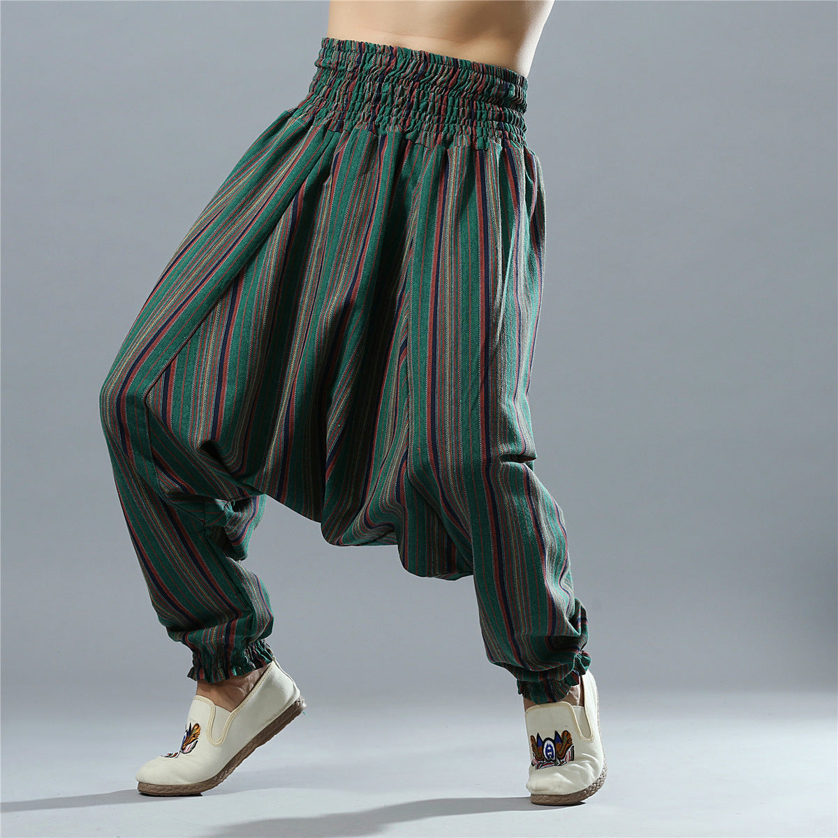 Men Spring Summer Bloomers Male Travel Harem Pants Big Crotch Yoga Trousers Indian Nepal