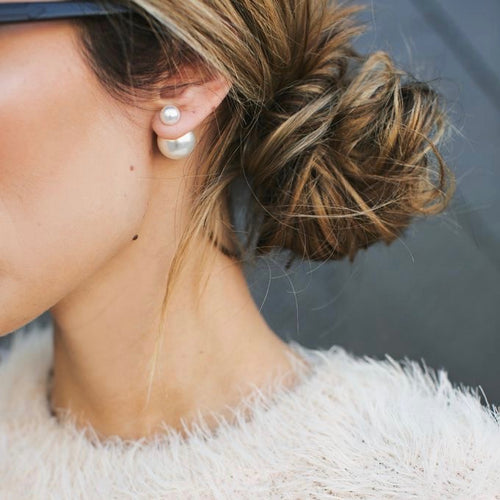 Pearl Double Stud Earrings