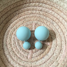 Load image into Gallery viewer, Matte Pale Blue Double Stud Earrings