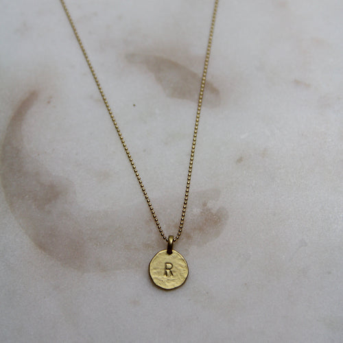 R Initial Necklace