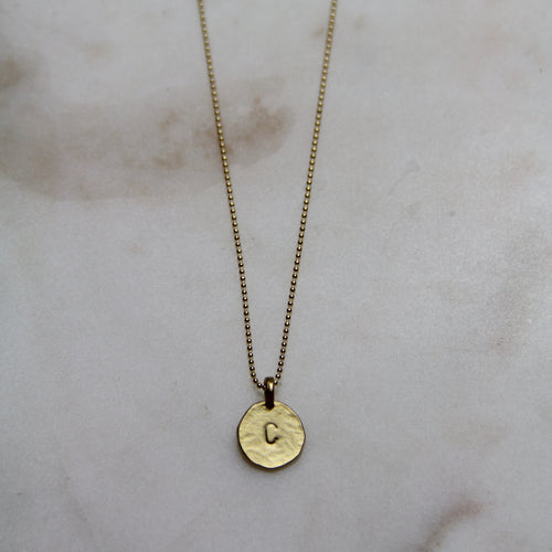 C Initial Necklace