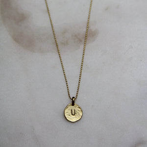 U Initial Necklace