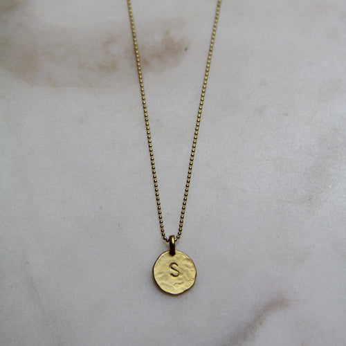 S Initial Necklace