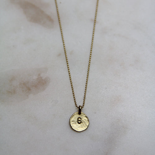 G Initial Necklace