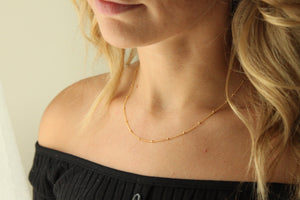 Layering Gold Ball Chain