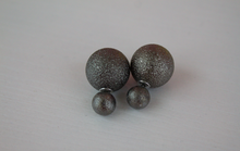 Load image into Gallery viewer, Gunmetal Foil Double Stud Earrings