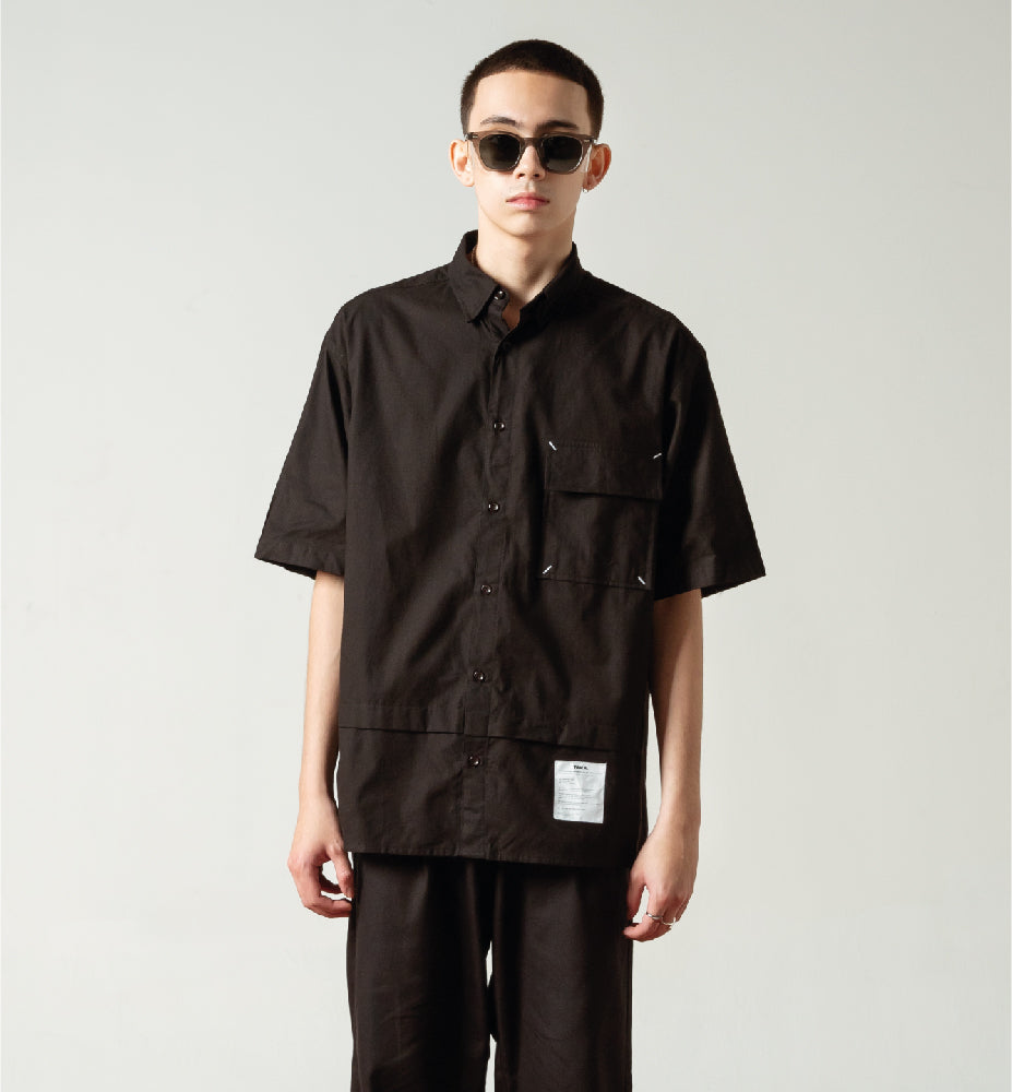 GEO BLACK BOXY SHIRT