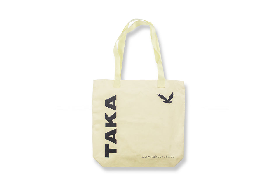REUSABLE TOTE BAG BROKEN WHITE