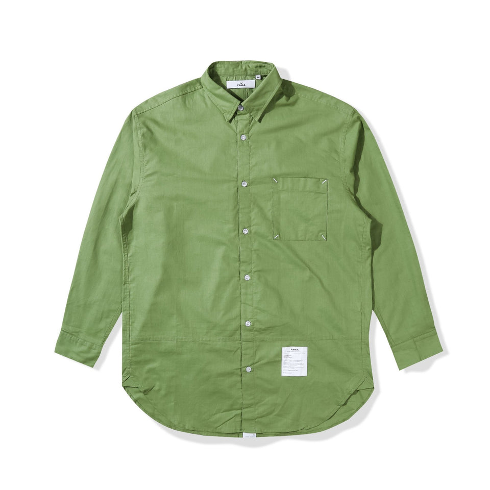 TERA GREEN OVERSIZED SHIRT