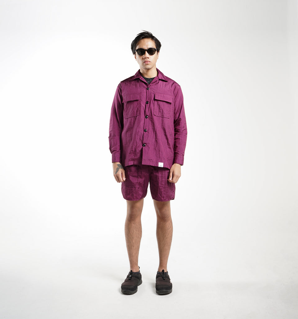 POINT NYLON SHIRTS BURGUNDY